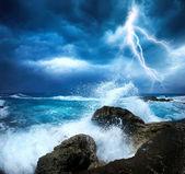 Tempestade do oceano — Fotografia Stock