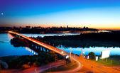 Kiev City - the capital of Ukraine. Night View — Stock Photo