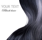 Black Hair Over White — ストック写真