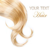 Healthy Blond Hair Isolated On White — Stock Photo
