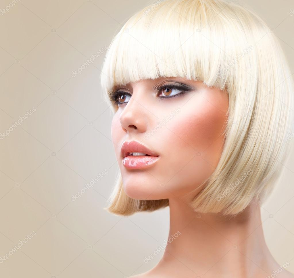 Remarkable Haircut Beautiful Girl With Healthy Short Blond Hair Hairstyle Short Hairstyles For Black Women Fulllsitofus