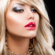 Blond Fashion Woman Portrait. Blonde Hair — Stock Photo