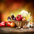 Healthy Organic Vegetables Still life Art Design — Stock Photo #14134372