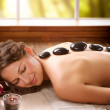 Spa Salon. Stone Massage. Dayspa — Stock Photo #14134411