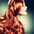 Fashion Red Haired Girl Portrait — Photo