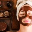 spa facial mascarilla chocolate — Foto de Stock