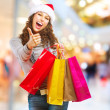 Stock Photo: Christmas Shopping. Girl With Bags in Shopping Mall