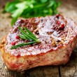 Meat. Grilled Steak - Foto de Stock  
