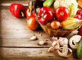Hälsosamma ekologiska grönsaker. bio mat — Stockfoto
