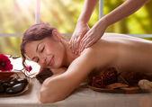 Massaggio. salone spa — Foto Stock