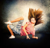 Dance. Hip-Hop Dancer. Dancing Teenage Girl — Stockfoto