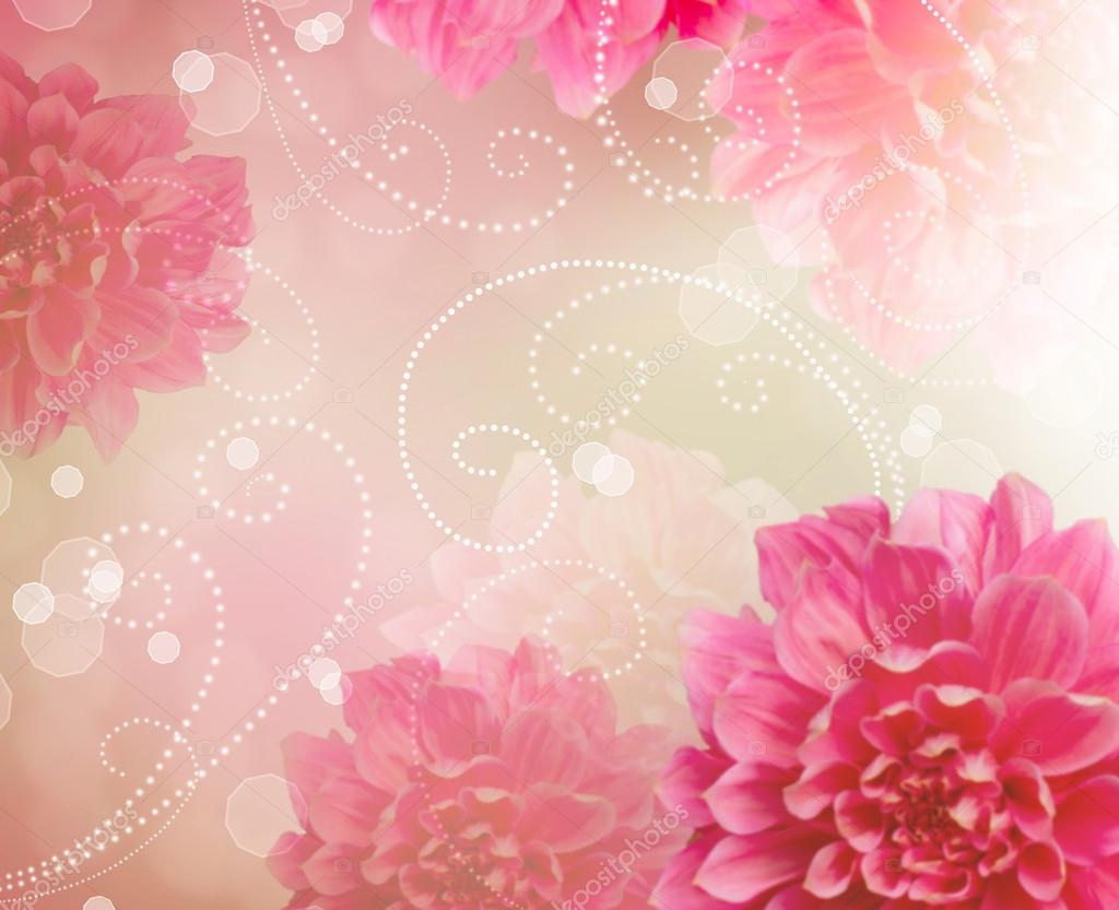 Flowers Abstract Design Art Background. Floral Wallpaper  Stock Photo #14134336