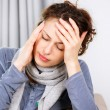 Woman with Headache — Stock Photo #16276041