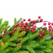 Christmas Tree Decorations Border Design — Stockfoto
