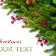 Foto Stock: Christmas Tree decoration Border Design