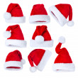Santa's Hat set over white — Stockfoto