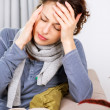 Stock Photo: Woman with Headache