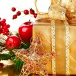 Stock Photo: Christmas Gift and Decorations