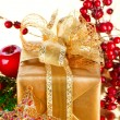 Royalty-Free Stock Photo: Christmas Gift and Decorations