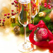 New Year Celebration. Greeting Card - Stock Photo