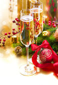 New Year Celebration. Greeting Card — Stock Photo