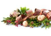 Christmas Decorations Isolated on White Background — Stock Photo