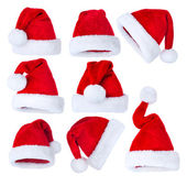 Santa's Hat set over white — Fotografia Stock