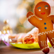 Gingerbread Man. Christmas Holiday Food — Stock Photo