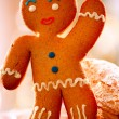 Stock Photo: Gingerbread Man. Christmas Holidays