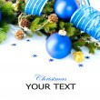 Christmas and New Year Baubles And Decoration border art Design - Foto de Stock