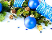 Christmas and New Year Baubles And Decoration border art Design — Stock Photo