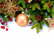Christmas Decorations Isolated on White Background — Stok fotoğraf