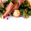 Stock Photo: Christmas Decoration Holiday Decorations Isolated on White