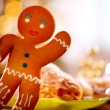 Gingerbread Man. Christmas Holiday Food — Stock Photo #19743363