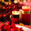 Christmas Table Setting. Holiday Decorations — Stock Photo #19744003
