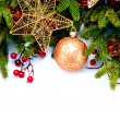 Royalty-Free Stock Photo: Christmas. New Year Decorations Isolated on White Background