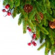 Christmas Tree decoration Border Design - Stock Photo