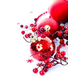 Christmas and New Year Baubles and Decorations — Stock Photo