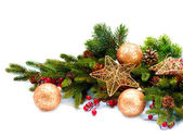 Christmas Decoration. Holiday Decorations Isolated on White — Photo