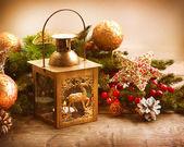 Christmas Scene. Holiday Greeting Card Design — Stock Photo