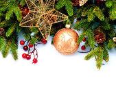 Christmas. New Year Decorations Isolated on White Background — Stock Photo