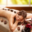 Stone Massage. Day Spa. Spa Salon — Стоковое фото #20381545