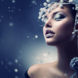 Winter Beauty Woman. Christmas Girl Makeup — Stock Photo #20381667