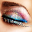 Stockfoto: Beautiful Eyes Holiday Make-up. False Lashes
