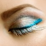 maquillaje de ojos hermosos vacaciones — Foto de Stock