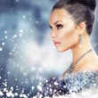 Stock Photo: Winter Womin Luxury Fur Coat