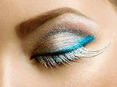 美丽的眼睛假日化妆 — 图库照片