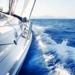 Yacht. Sailing. Yachting. Tourism. Luxury Lifestyle — Stock Photo