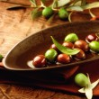 Olives and Olive Oil  — ストック写真