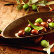 Olives and Olive Oil — Stock Photo